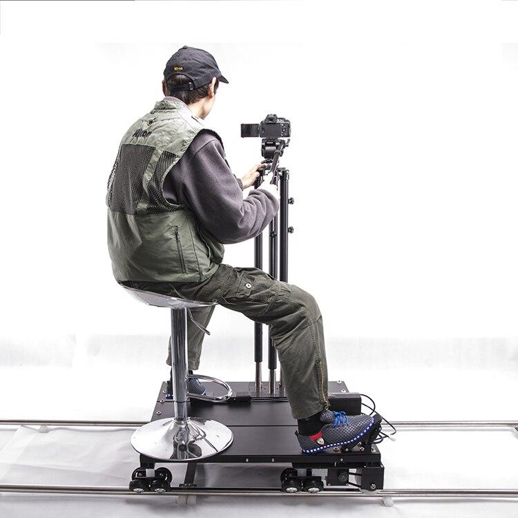 Twzz 6 m Con Equipaggio Scorrimento Elettrico Macchina Fotografica Dolly Pista Film Motorizzato Guida Manuale Pedale di Controllo A Distanza di Controllo