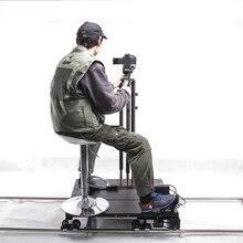 Twzz 7 mt Bemannte Elektrischen Schieber Kamerawagen Track Film Motorisierte Schiene Manuelle Fernbedienung Fußschalter