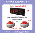 DHL FREE SHIPPING,315MHZ Wireless Calling System Restaurant With Call Waiter Table Button And Customer Display