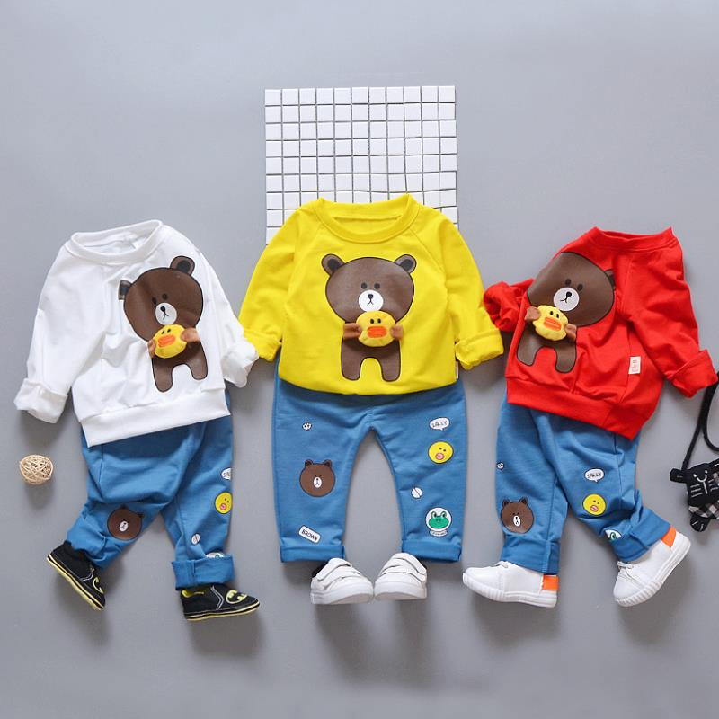 2019 Spring Autumn New Baby Boys Girls Sport Suit Children Boys Clothing Set Toddler Casual Kids Clothes Tracksuit Sets 1-4Y