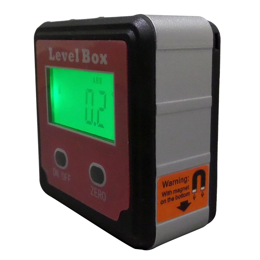 Digital Inclinometer Level Box Protractor Angle Finder