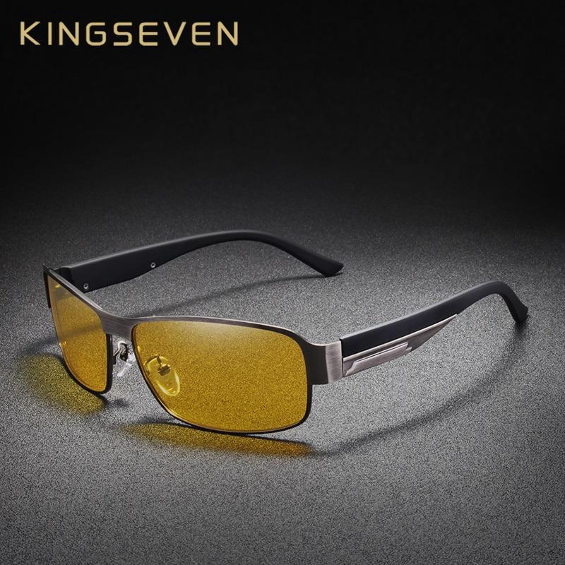 KINGSEVEN Night Vision Design Da Marca Óculos Polarizados Óculos De Sol Das  Mulheres Dos Homens Óculos 659b362622