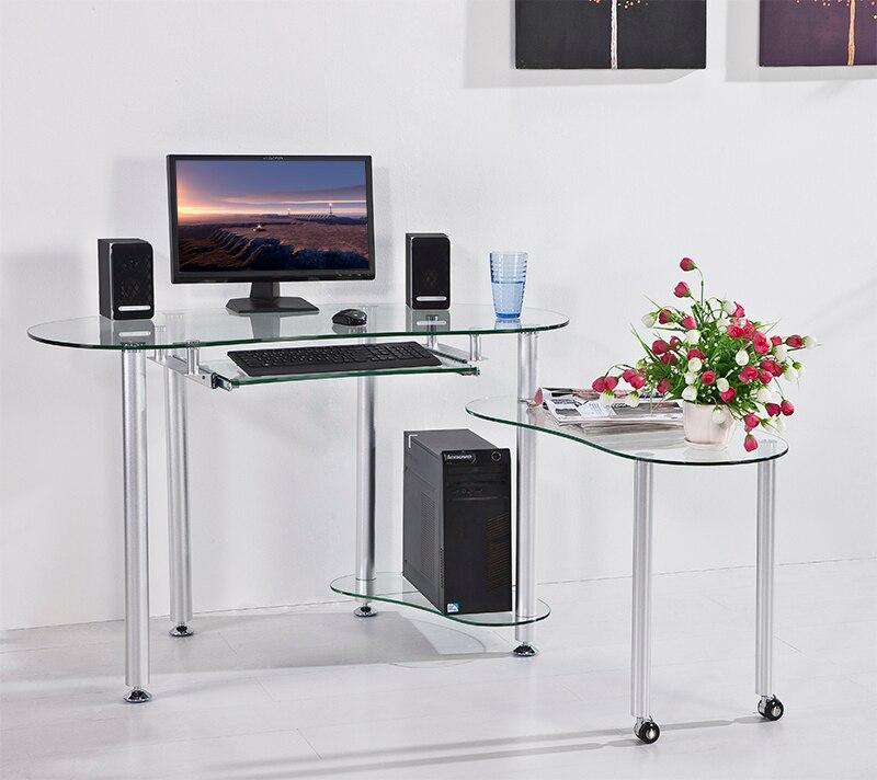 Vidro temperado computador de mesa mesa laptop mesa de for Mesa de ordenador blanca