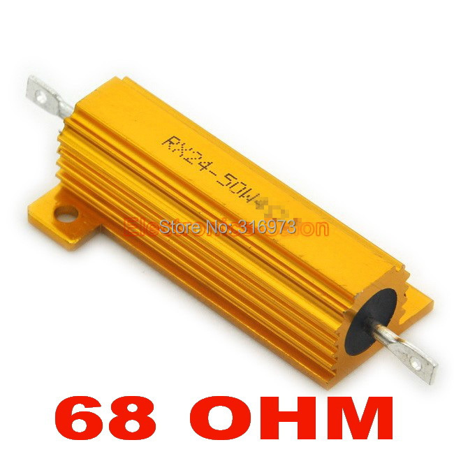 (20 шт./партия) 68 Ом 50 Вт проволочный Алюминий Размещенный резистор, 50 Вт.