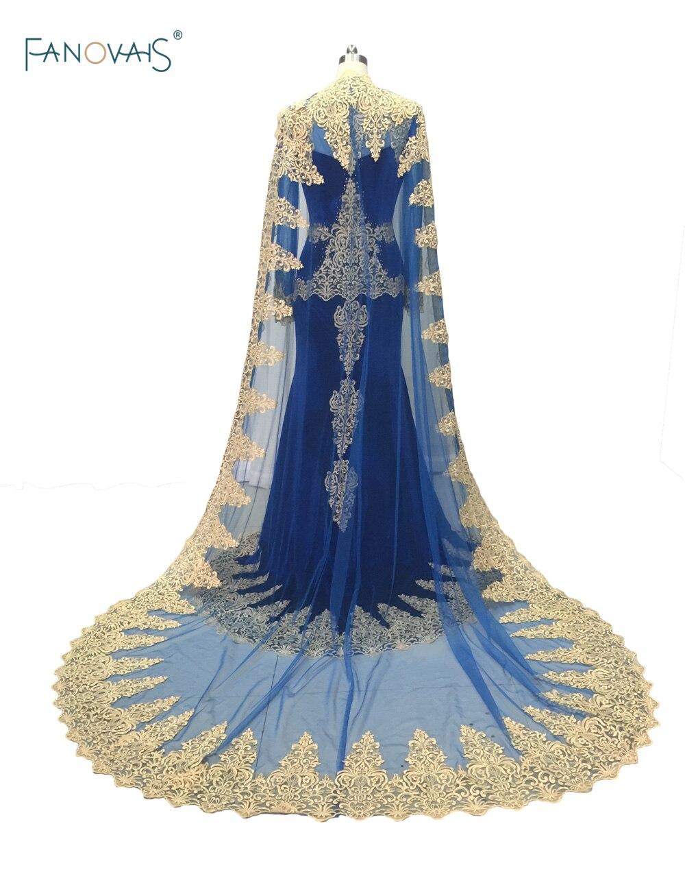 Vintage koningsblauw avondjurken Lange mouw zeemeermin galajurken met - Jurken voor bijzondere gelegenheden - Foto 2