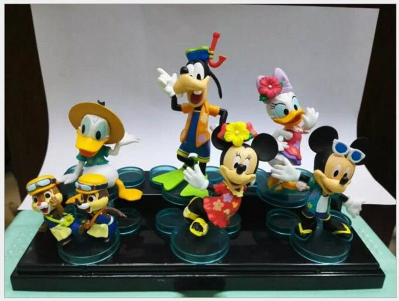 ФОТО of six paragraph new minnie toys hand to do mickey mouse donald duck  boxed hand to do birthday gift free shipping x40