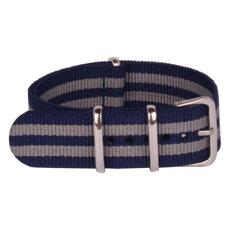 c4320a4d51b 20 mm Belts Stripe Cambo Navy Grey Nato Woven Fiber watchband 20mm Nylon Watch  Straps Wristwatch Band Buckle Cheap fabric-in Watchbands from Watches on ...