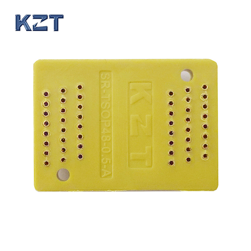 50pcs/lot Pin Board TSOP48 0.5 Interposer Board Receptacle Pin Adapter Plate Burn in Socket Test Socket Plug pin-in Connectors from Lights & Lighting    1