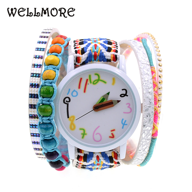 WELLMORE Women Watches leather bracelet watch fashion casual pencil quartz  Watch Wrist watches for womenWELLMORE Women Watches leather bracelet watch fashion casual pencil quartz  Watch Wrist watches for women