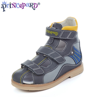 Princepard 2019 genuie leather orthopedic shoes children flat foot sandal kids orthopedic shoes with arch support insole