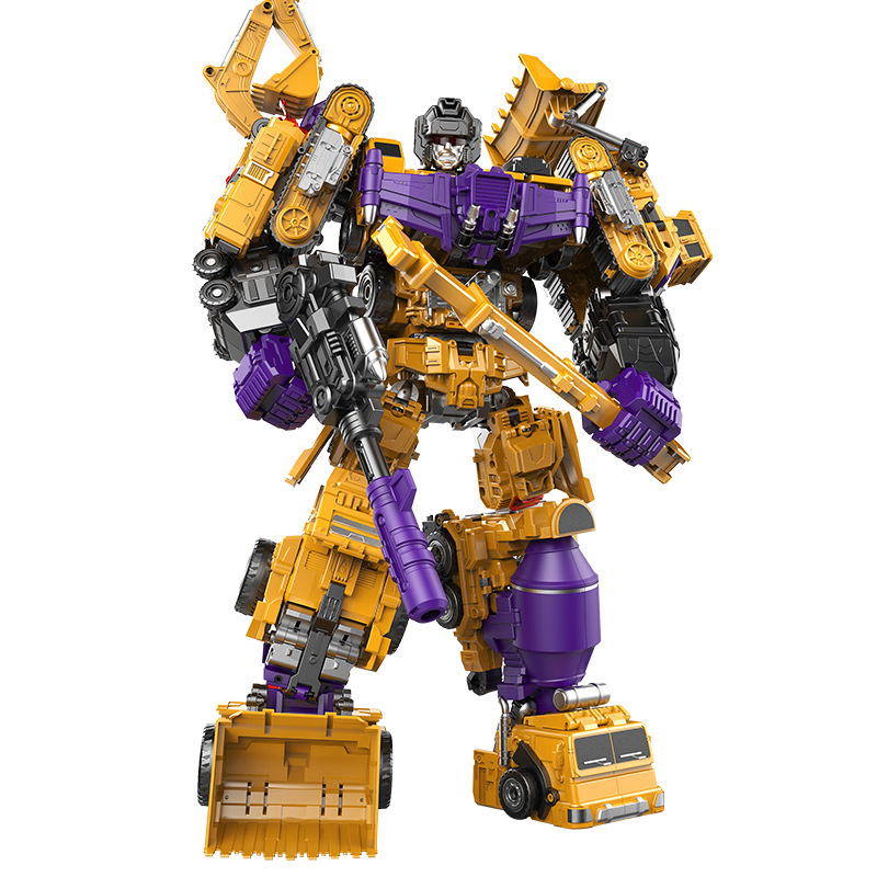 New NBK1-6 all Transformation Ko Version Gt HOOK Long Haul Mixmaster Forklift excavator Action Figures Robot outdoor Beach Toys