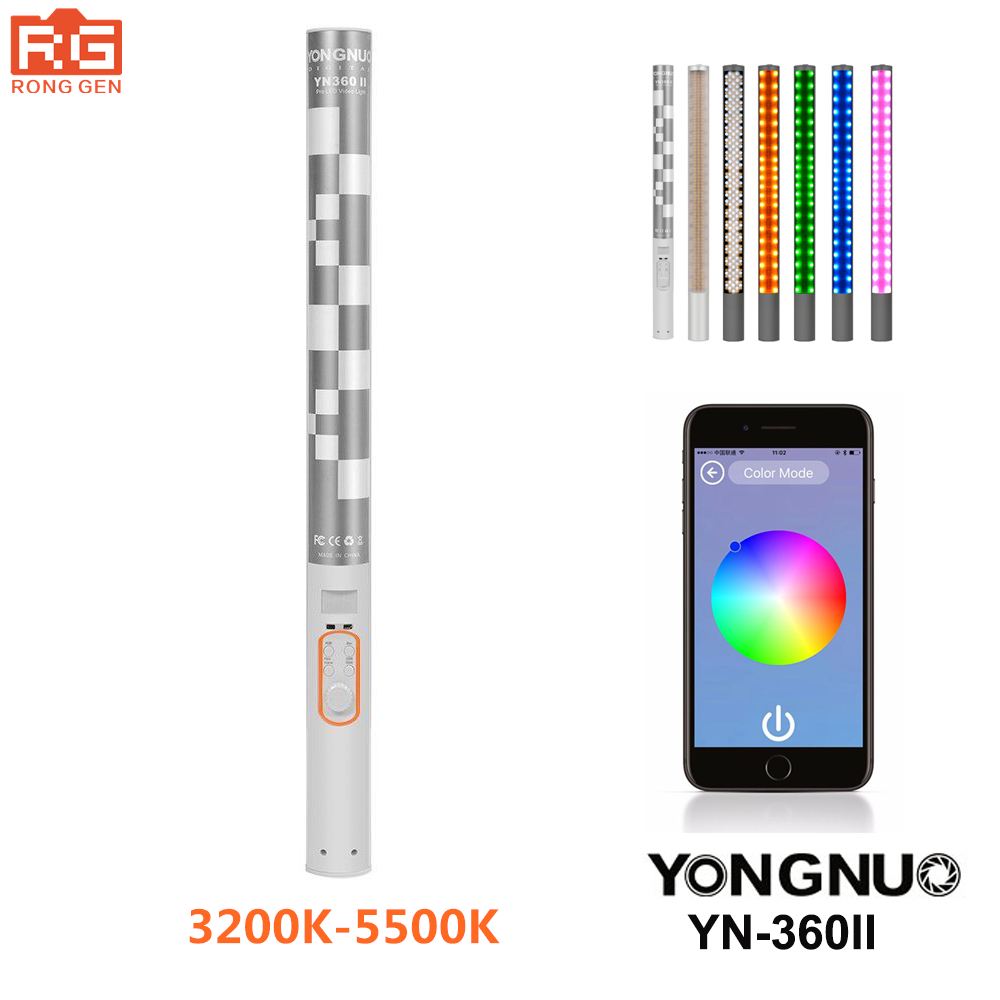 YONGNUO YN360 II Pro LED Video Light with Adjustable Color Temperature 3200K-5500K
