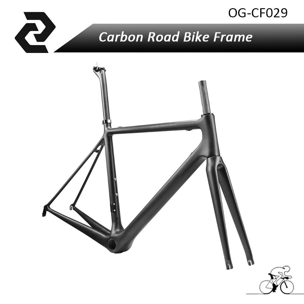 2017 Newest Carbon Road Bike Frame Ud Carbon Road Frameset 48 51 54 56 58cm Bike Frame Fork Clamp Headset Seatpost OG-EVKIN стоимость