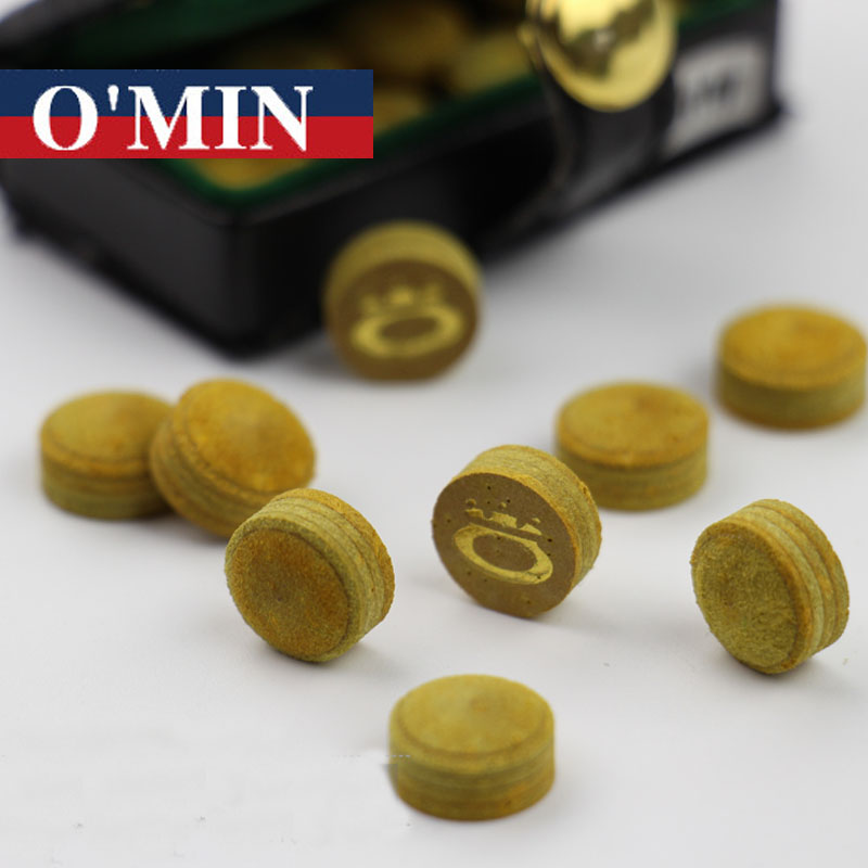 8 Pieces lot Multilayer Omin Snooker Cue Tip 10mm 11mm Yellow Color M Hardness Billiards Accessories