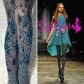 2017 Print Polyester Women Tights Medias Pantis Woman Stockings 2017 New Pantyhose Velvet Printing Personality T Station Runway