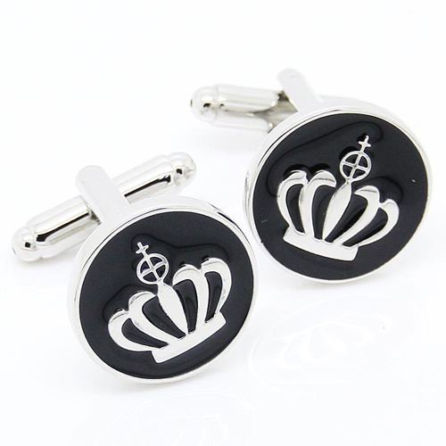 Black Crown Cufflink Cuff Link 15 Pairs Wholesale Free Shipping