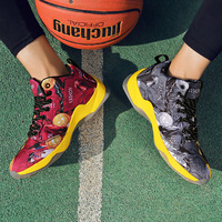 2018 Autumn Hot Couple Basketball Shoes Men's Sports Shoes Outdoor Non slip Wear resistant High top Women Sneakers Basket Homme
