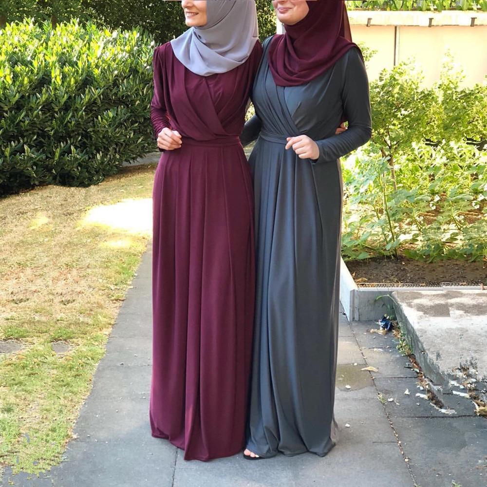 Elegant Muslim Pleated Abaya Maxi Dress Cardigan Long Robe Gowns Jubah Kimono Ramadan Arab Turkey Islamic Kaftan Worship Service