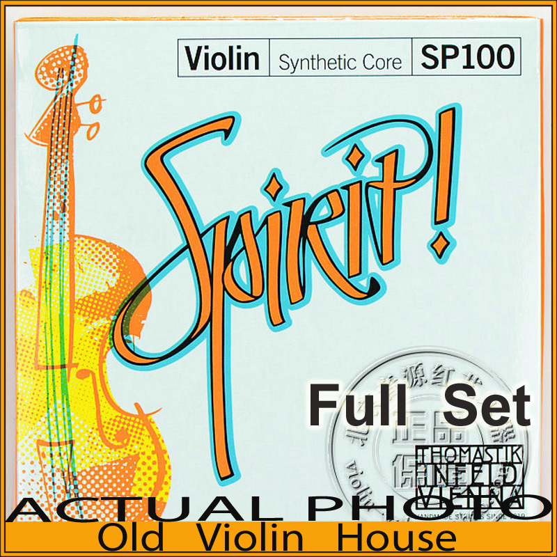 Original Thomastik Spirit Violin Strings (SP100)Set 4/4 with Removable E Ball-End, full set,made in Austria ,Free shipping free shipping evah pirazzi violin strings full set ball end made in germany for 4 4