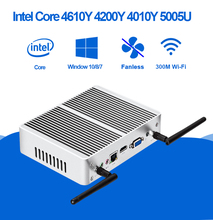 Mini PC Windows 10 Intel Core i3 5005U 4010U HD Graphics Compact HTPC Fanless Silent Mini