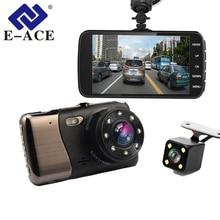 E-ACE Автомобильный Dvr 4,0 дюймов LDWS ADAS ночное видение камера FHD 1080 P двойной объектив регистраторы с автомобиля расстояние Предупреждение Авто Регистратор
