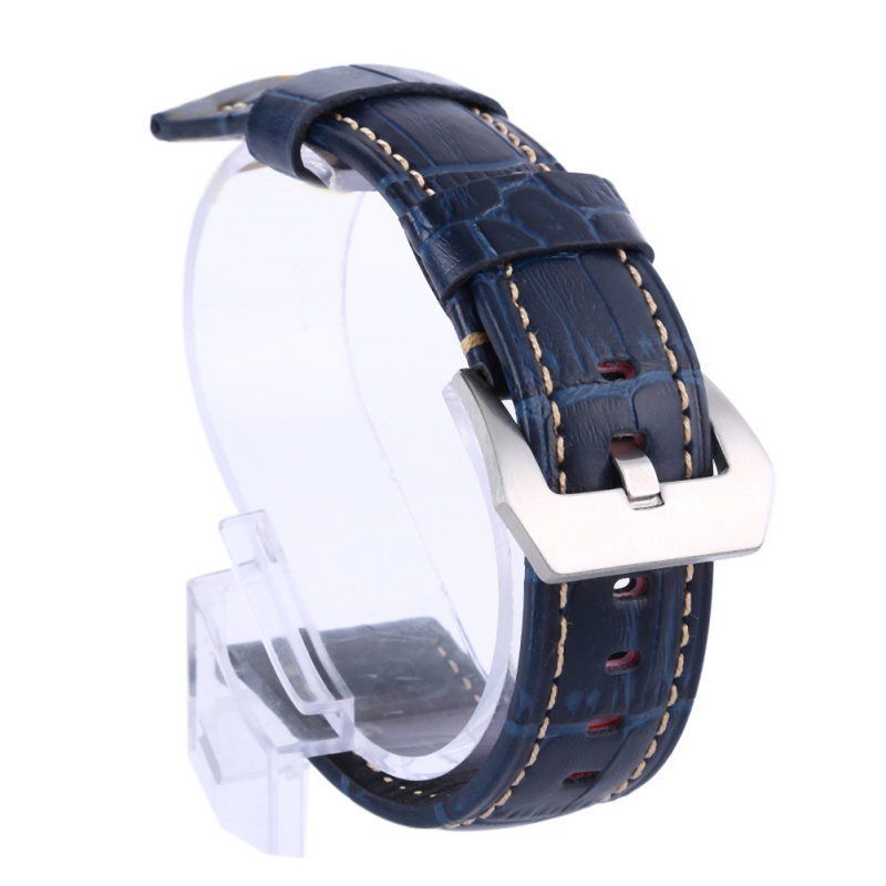 Genuine Leather Watchbands Men Women Watch Band Strap For Panerai Belt Stainless Steel Buckle