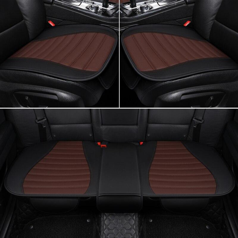 Les sièges auto en cuir écologique haut de gamme couvrent les housses de siège auto en cuir synthétique polyuréthane pour les accessoires focus mk3 hyundai creta bmw e34 peugeot 3008
