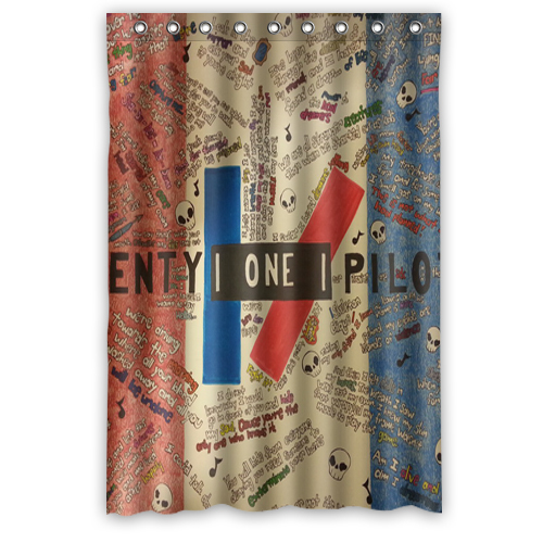 Shower Curtains Facebook Twenty One Pilots Bath Products Fabric Waterproof Polyester 48x72 Inch Cortinas