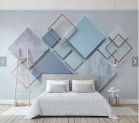 Custom 3d Stereoscopic Wallpaper Simple Geometric Diamond Mural For Living Room Bedroom TV Backdrop Home Decor