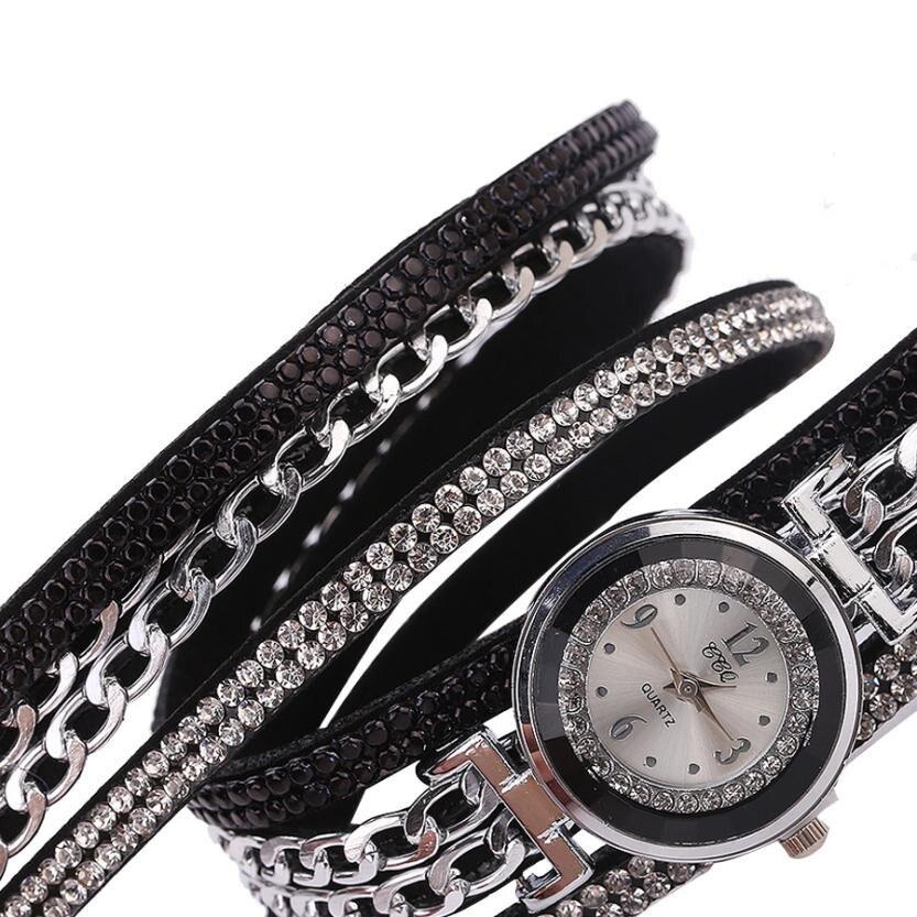 Watches Woman Fashion Leather Band Analog Fashion Quartz Round Wrist Watch Luxury Women Watches Relogio Feminino Saat Montre