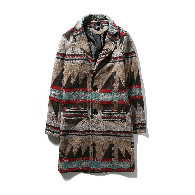 Mens Overcoat Long Trench Coat Men 2017 Autumn Winter M-5XL Wool Men Trench Coat Long TY87
