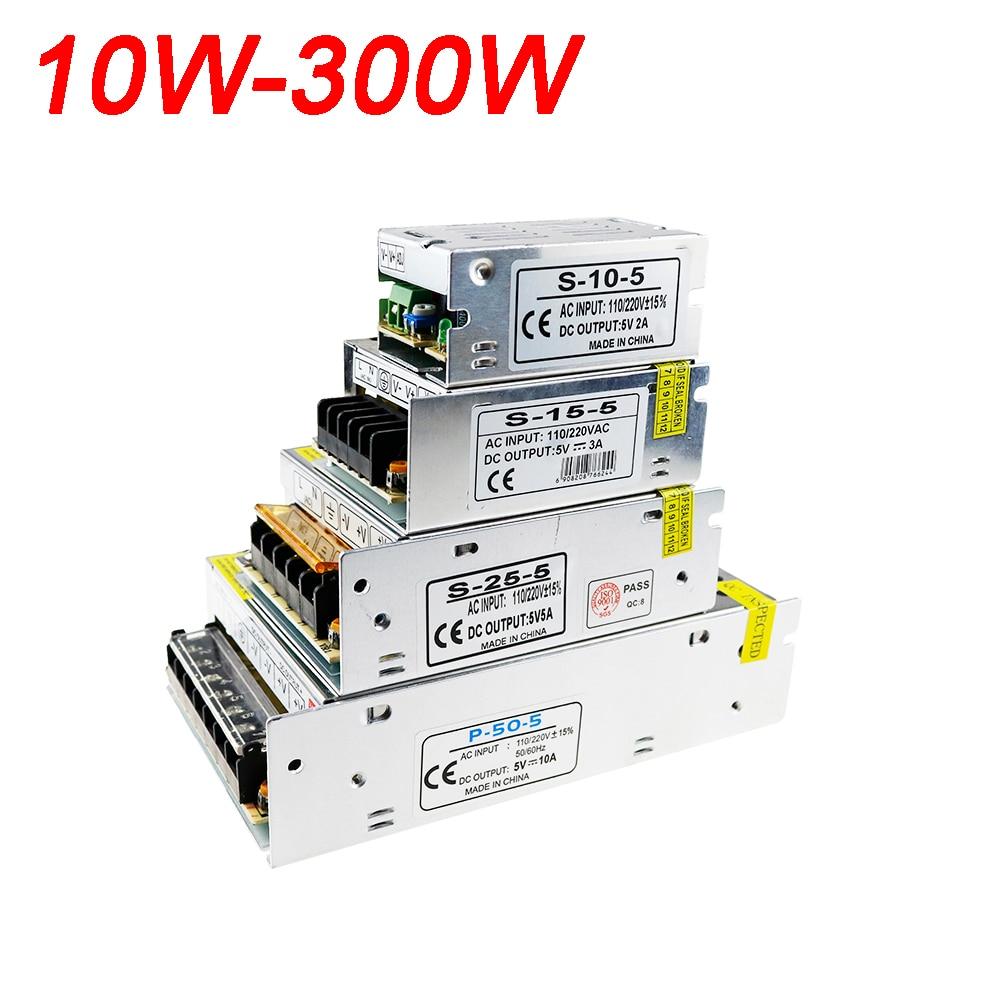все цены на High Power AC110V 220V To DC5V LED Strip Power AC DC Adapter 5V 2A 3A 5A 10A 20A 30A 40A 60A 10W-300W Switch Power Supply 1PCS онлайн