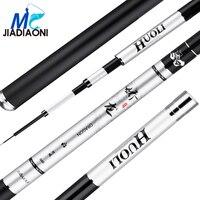 JIADIAONI 2018 New 1PCS 2.7m 7.2m Carbom Fiber Taiwan Fishing Rod Hand ultra light super hard carbon Fishing Rods