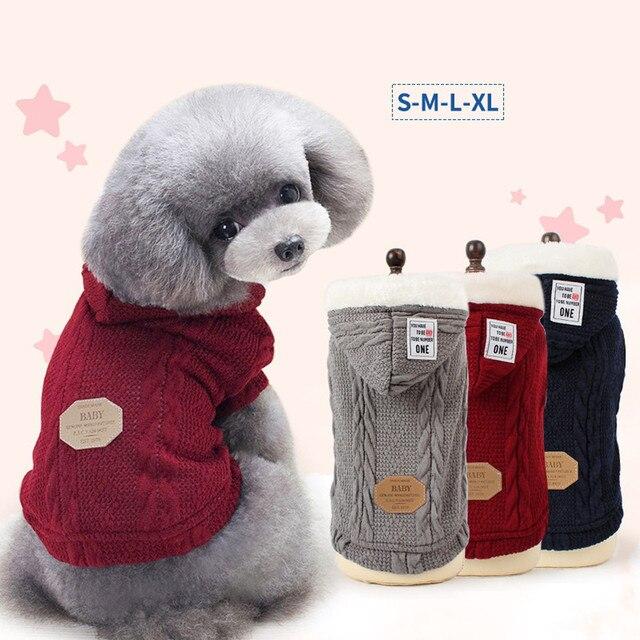 Pet Kleidung Hund Pullover Herbst Winter Warm Stricken Häkeln ...