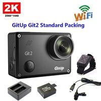 Original GitUp Git2 Standard Packing Wifi 2k Novatek 96660 Sports Camera Extra 1pcs Battery Battery Charger