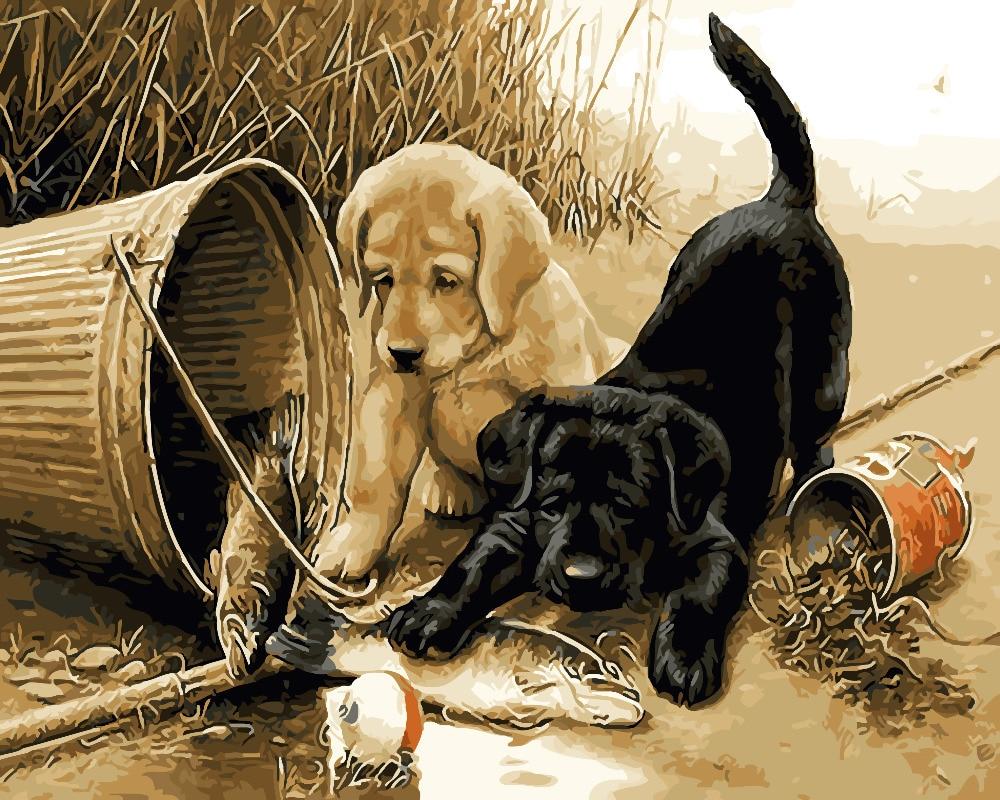 Надписью, открытки онлайн с собаками
