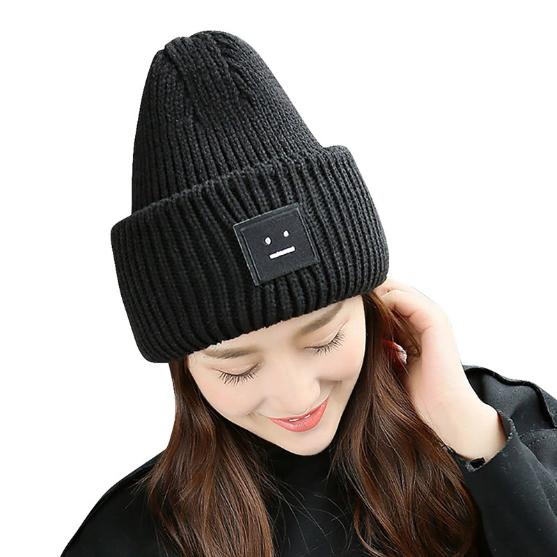 Winter Solid Fashion Hiking Caps Men Women Sports Ski Hats Knitted Wool Hat Warm Winter Hat For Women Men  H8