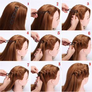 Image 4 - 6 Styles Lady French Hair Braiding Tool Weave Braider Roller Hair Twist Styling Tool DIY Accessories