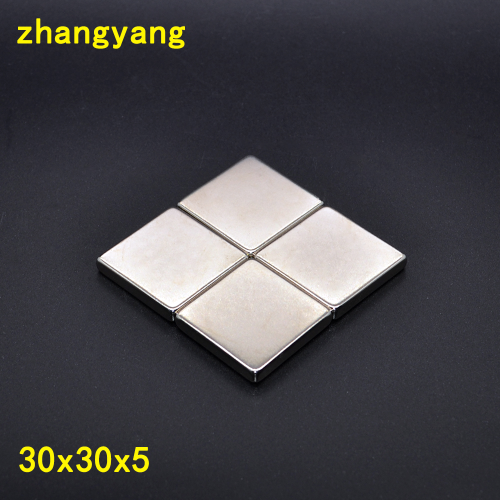 10pcs <font><b>30</b></font> x <font><b>30</b></font> x <font><b>5</b></font> mm N52 Super Strong Powerful Rare Earth Block Magnets 30x30x5 Neodymium Magnet Free Shipping <font><b>30</b></font>*<font><b>30</b></font>*5mm image