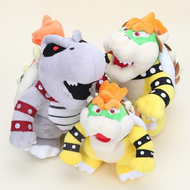 15-30 centímetros Super Mario Land 3D Osso Kubah dragão Reforçar Desenhos Animados Ossos Secos Brinquedo de Pelúcia Bowser Koopa pelúcia macio recheado bonecas Brinquedos