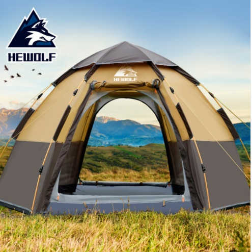 Hewolf New Outdoor 3-4 Person Automatic Family Hiking Tent Huge Self Driving Tent Beach Tent Thickened Rainproof Camping Tent Hewolf New Outdoor 3-4 Person Automatic Family Hiking Tent Huge Self Driving Tent Beach Tent Thickened Rainproof Camping Tent