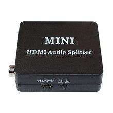 מיני HDMI אודיו ספליטר HDMI Toslink ספליטר עם USB כבל Spdif, קואקסיאלי ואוזניות פלט עבור XBOX, PS4