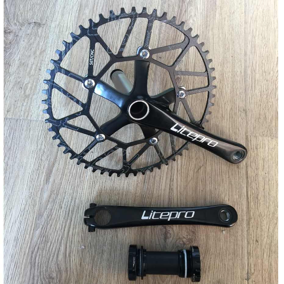 Details about  /Crank arm Bike Crankset Crank set Folding bike Road bike New Practical