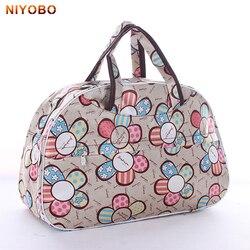 41 см * 28 см * 16 см дешевый большой емкости женский дорожный портфель для мужчин багажный вещевой мешок новый цветочный принт Женская сумка ...