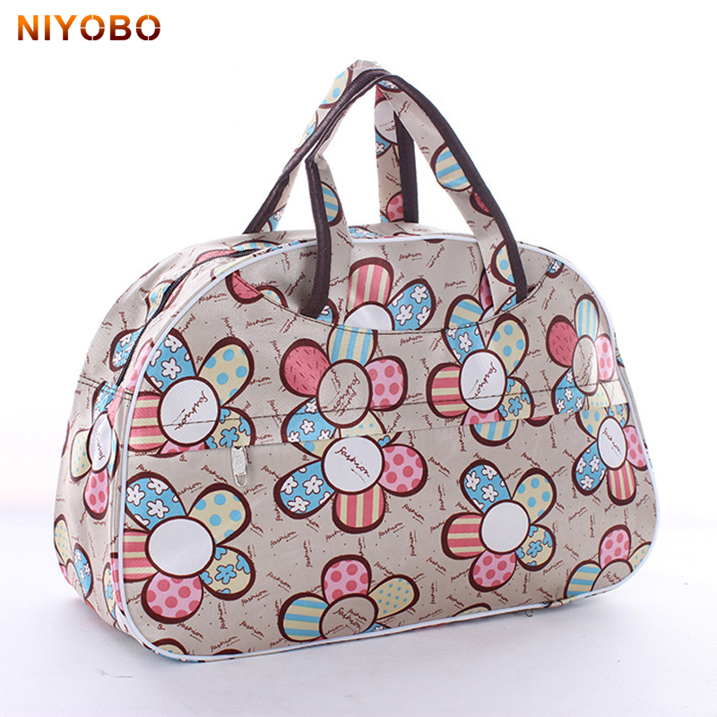 41cm*28cm*16cm Cheap Large Capacity Women Travel Bag Tote Men Luggage Duffle Bag New Flower ...