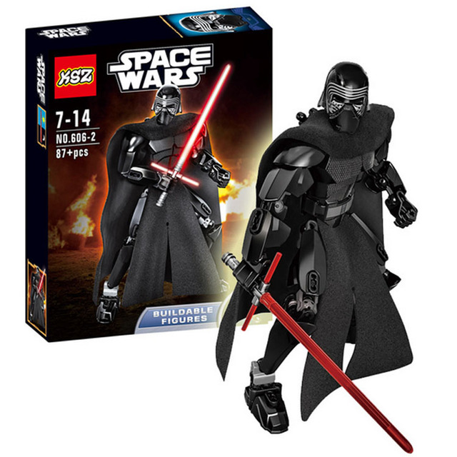 US $10 89 |87pcs Kylo Ren 26cm Figure Hero Factory Building Blocks Set  Brick Figure Toys Star Battle Compatible With Lego-in Blocks from Toys &