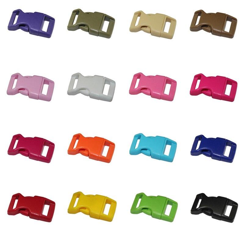 10pcs/lot Pet collar safety buckle umbrella rope bracelet plastic buckles suitable for 15mm wide webbing