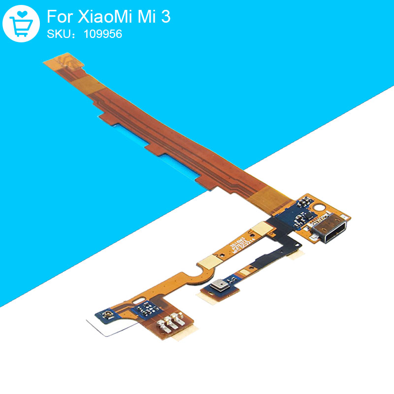 Flex Cable For XiaoMi Mi 3 USB Charging Port TD-SCDMA Replacement Parts Original 109956