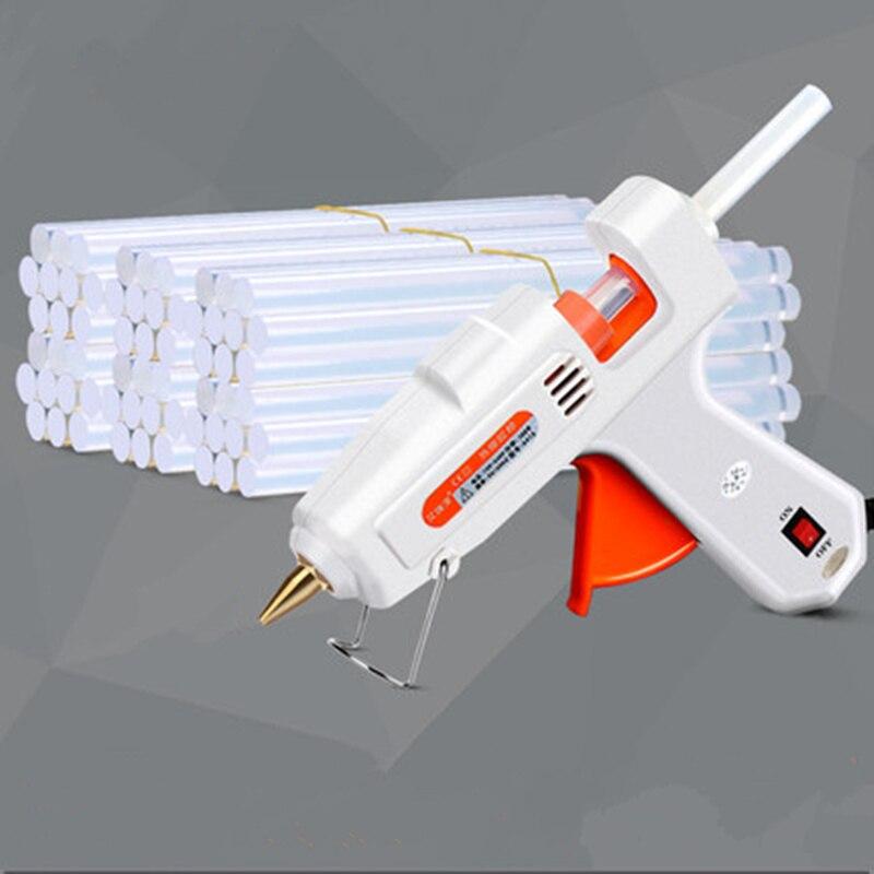 1set EU 100W hot Electric glue gun with 30pcs 11mm glue Stick Industrial repair Adhesive Temperature