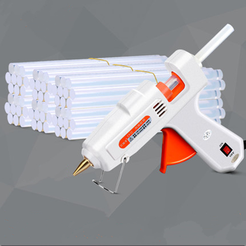 цена на 1set EU 100W hot melt glue gun Electric glue gun Industrial repair Adhesive Temperature Tool contain 30pcs 11mm glue Stick